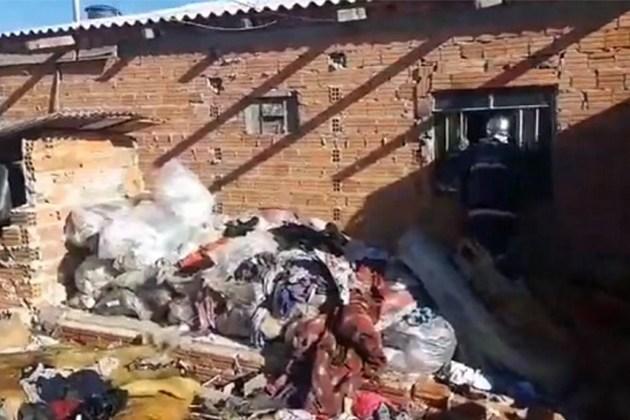 Corpo de Bombeiros é chamado para conter fogo em residência na Vila Cristina em PG