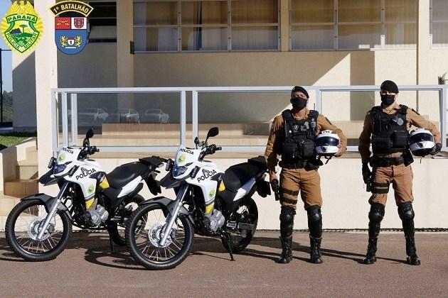 1º Batalhão de Polícia Militar recebe doação de motocicletas e equipamentos