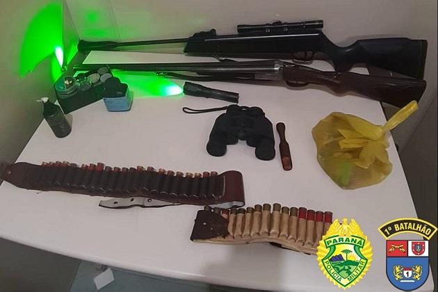 Operação policial prende suspeitos de realizarem caça ilegal no Paraná