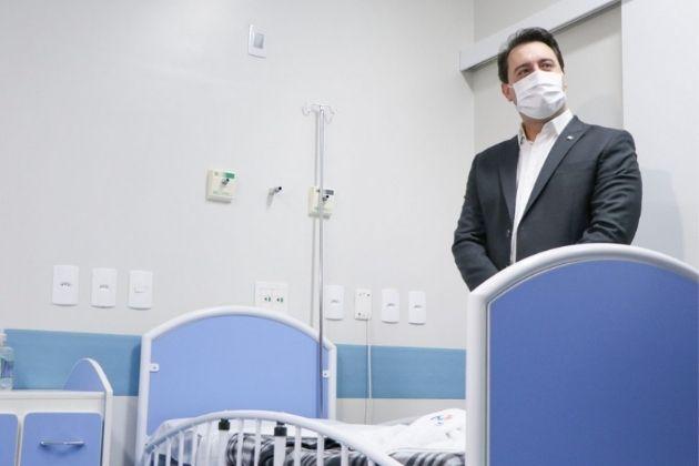 Governador Ratinho Junior faz vistoria na maternidade da UEPG no Hospital da Criança