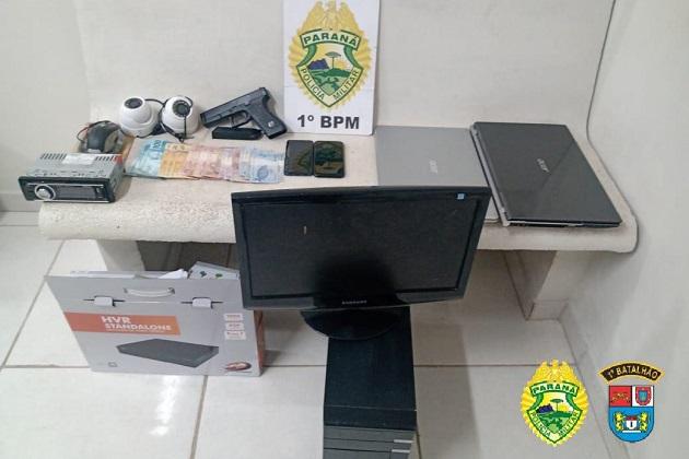 Em ação rápida, PM encontra objetos roubados de escritório em PG