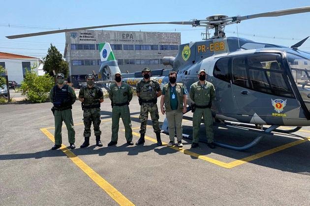 Com apoio aéreo, Polícia Militar fiscaliza Parques Estaduais do Paraná
