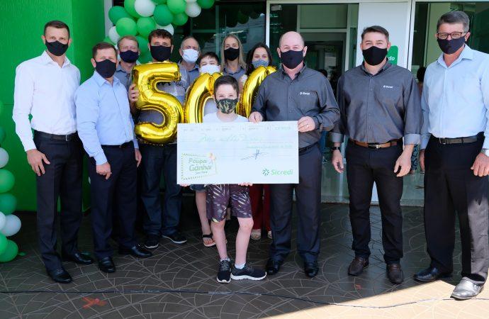Campanha do Sicredi contempla associado de apenas nove anos de idade com meio milhão de reais