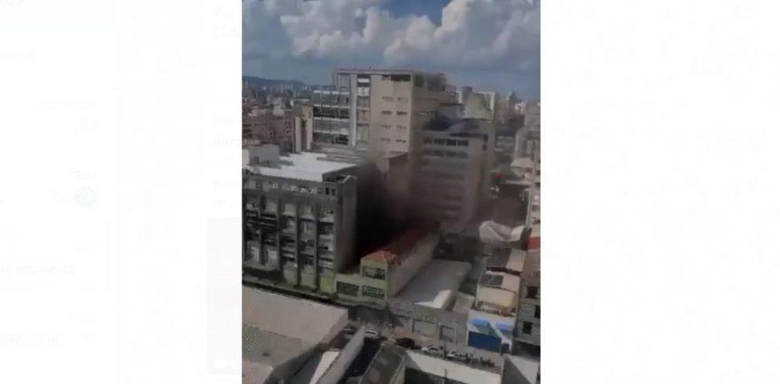 Incêndio atinge prédio do jornal 'Folha de S.Paulo', no Centro de SP