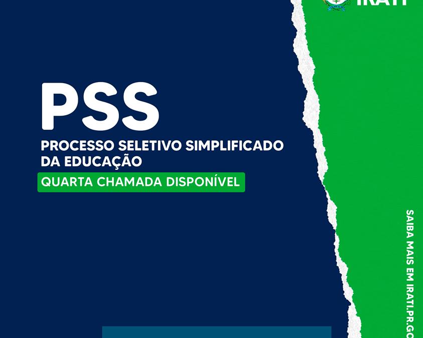 Educação de Irati faz 4ª chamada do PSS