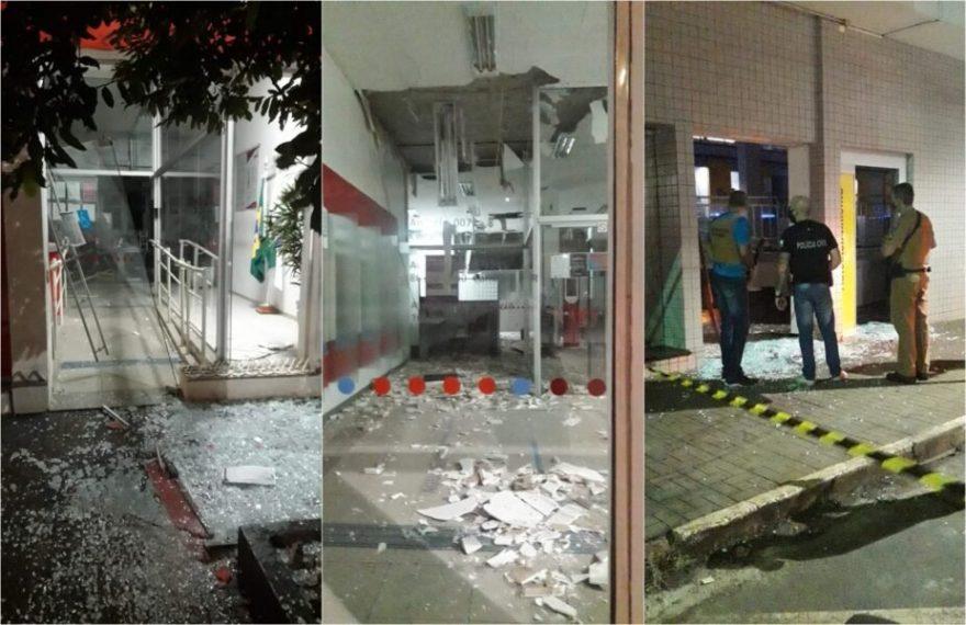 Quadrilha explode agências bancárias em Cambará, interior do Paraná
