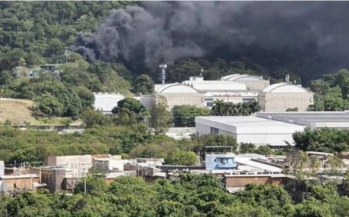 Princípio de incêndio atinge Estúdios Globo, no Rio de Janeiro