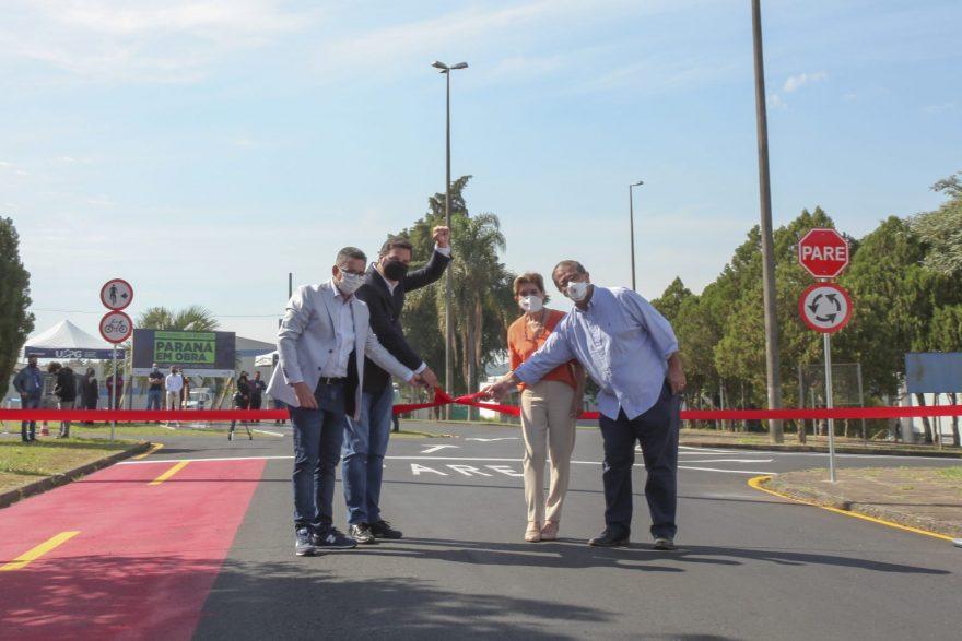 UEPG e Secretaria de Infraestrutura e Logística do PR inauguram recapeamento asfáltico do campus Uvaranas