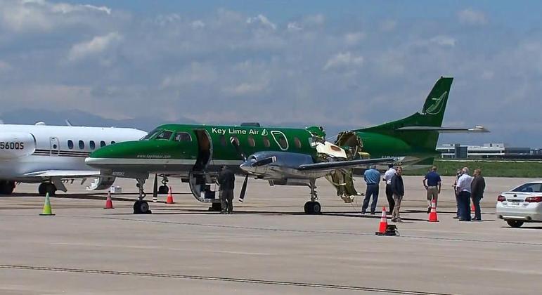 Duas aeronaves colidem durante voo nos Estados Unidos; condição de um dos aviões impressiona