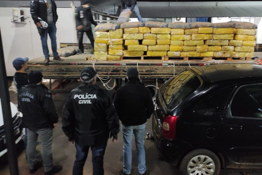 Polícia Civil apreende quatro toneladas de maconha no Paraná