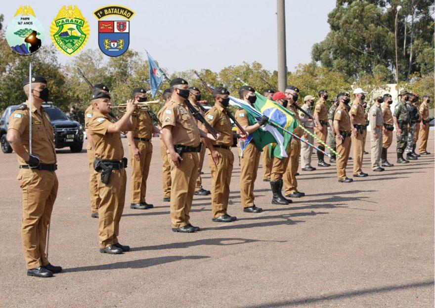 Fotos: 1º BPM celebra os 167 da Polícia Militar do Paraná com solenidade e entrega de honrarias