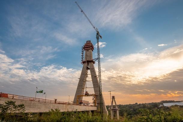 Fotos: Ponte da Integração Brasil – Paraguai já ultrapassa os 64% de execução e quase R$ 150 milhões investidos